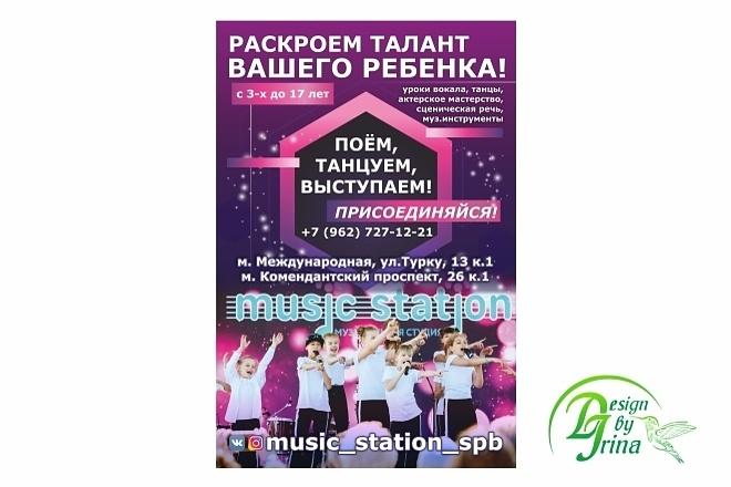 Дизайн плакатов, афиш, постеров 9 - kwork.ru