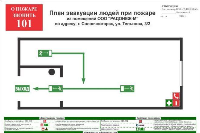 Разработка плана эвакуации по ГОСТу 4 - kwork.ru
