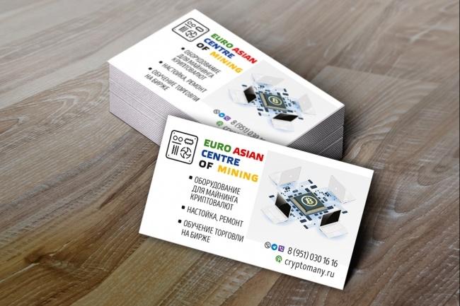 Создам 3 варианта визитки 84 - kwork.ru