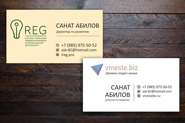 Создам 3 варианта визитки 82 - kwork.ru