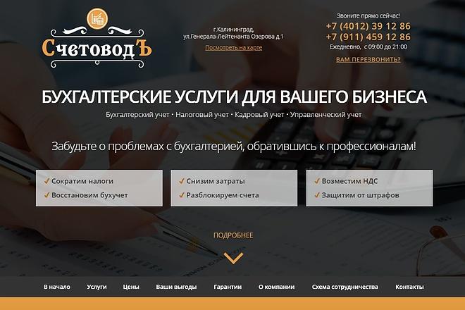 Скопирую Landing Page, Одностраничный сайт 76 - kwork.ru