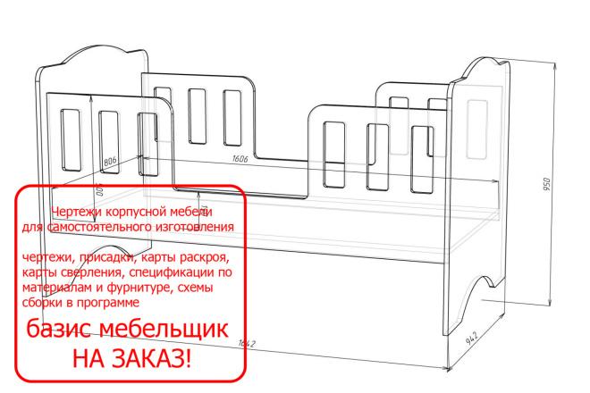 Чертежи мебели для производства в программе базис мебельщик 30 - kwork.ru