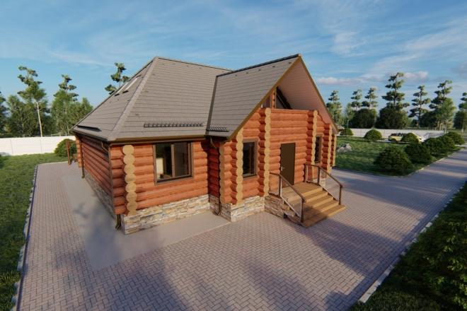 Фотореалистичная 3D визуализация экстерьера Вашего дома 9 - kwork.ru