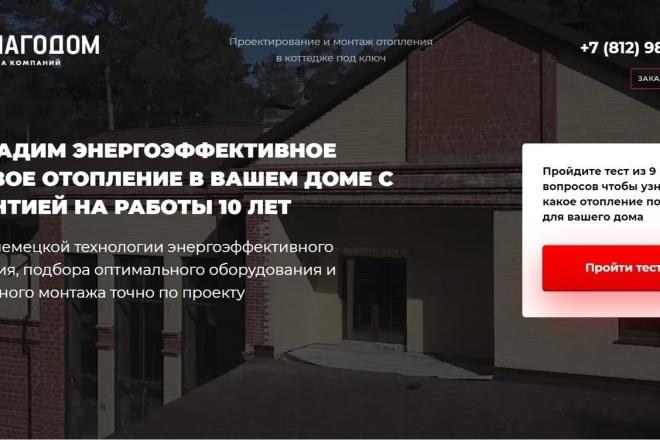 Копия Landing page с любой платформы. Лендинг, одностраничник под ключ 30 - kwork.ru