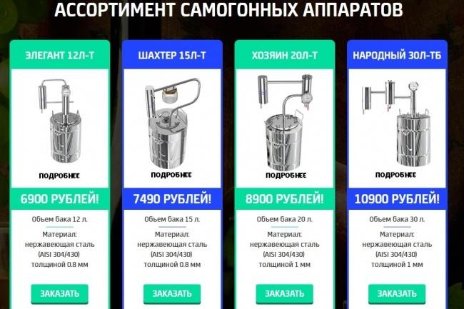 Копия Landing page с любой платформы. Лендинг, одностраничник под ключ 50 - kwork.ru