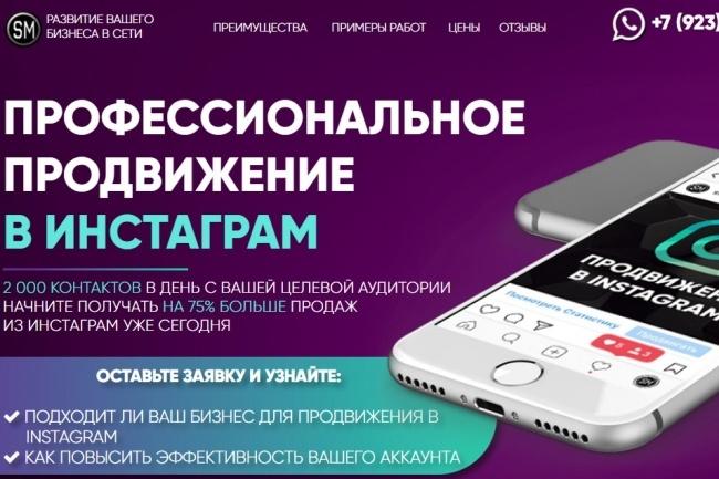 Копия Landing page с любой платформы. Лендинг, одностраничник под ключ 47 - kwork.ru