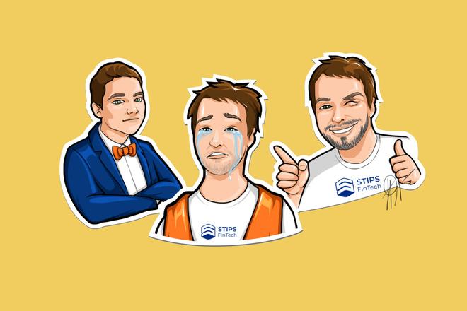 Нарисую стикер для Telegram 3 - kwork.ru