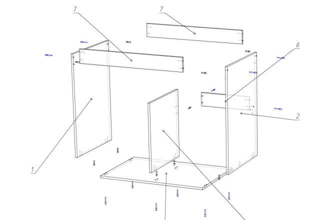 Чертежи мебели для производства в программе базис мебельщик 73 - kwork.ru