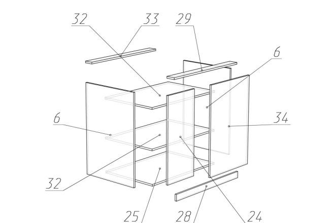 Чертежи мебели для производства в программе базис мебельщик 41 - kwork.ru