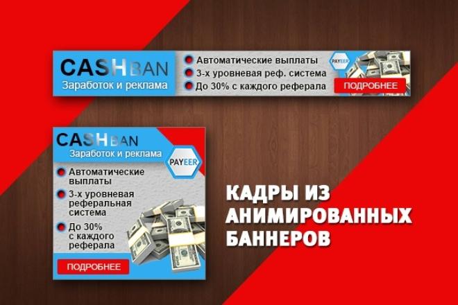 2 gif - анимированных рекламных баннера 98 - kwork.ru
