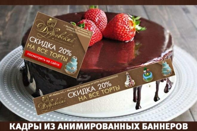 2 gif - анимированных рекламных баннера 88 - kwork.ru