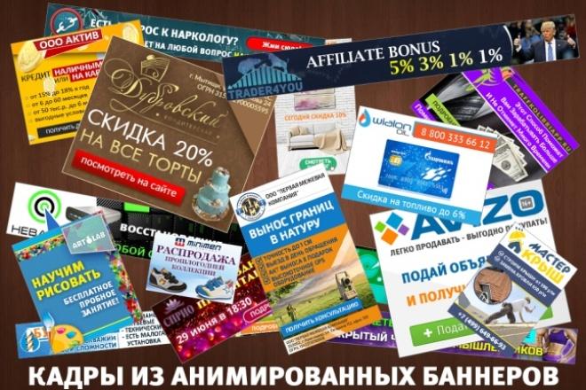 2 gif - анимированных рекламных баннера 87 - kwork.ru