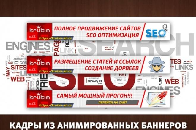 2 gif - анимированных рекламных баннера 82 - kwork.ru