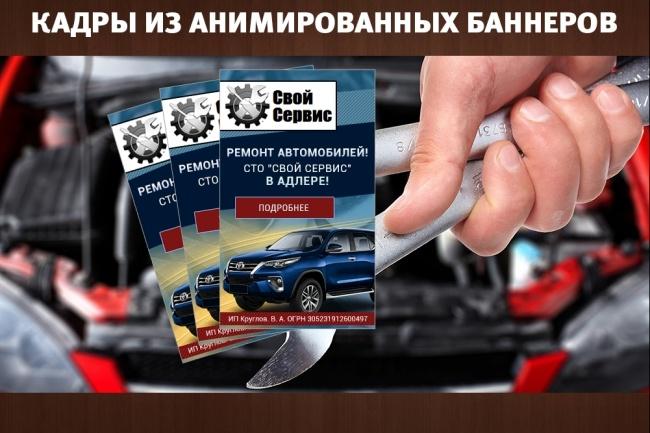 2 gif - анимированных рекламных баннера 23 - kwork.ru