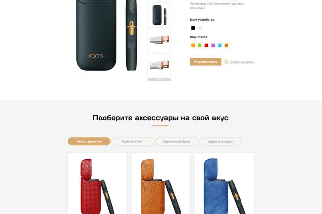 Дизайн страницы Landing Page - Профессионально 1 - kwork.ru
