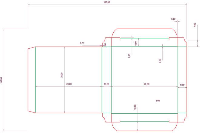 Разработка кроя упаковки из картона или микрогофрокартона 2 - kwork.ru