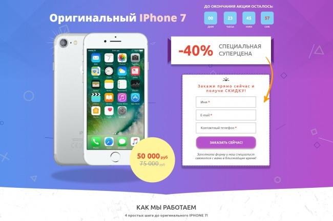 Уникальный дизайн главной страницы сайта 31 - kwork.ru