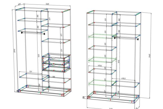 Чертежи мебели для производства в программе базис мебельщик 11 - kwork.ru