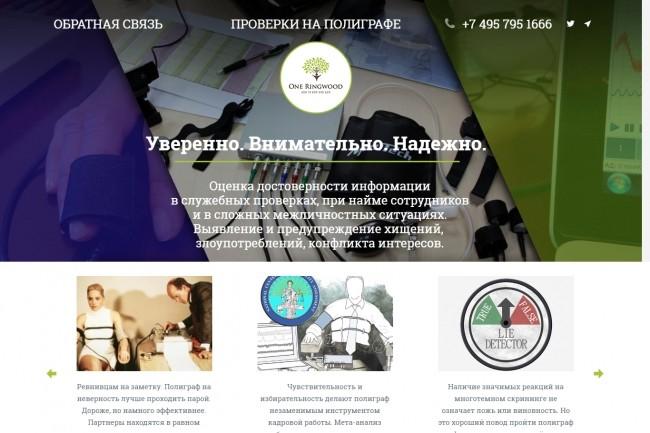 Создание адаптивного лендинга из 4 блоков или больше 31 - kwork.ru
