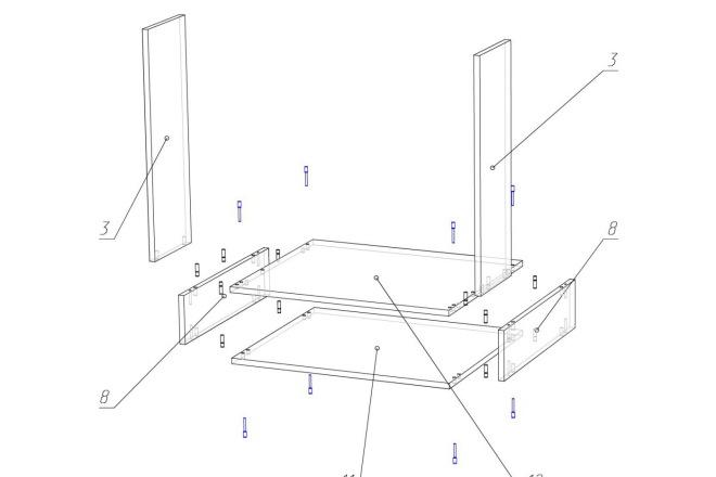 Чертежи мебели для производства в программе базис мебельщик 72 - kwork.ru
