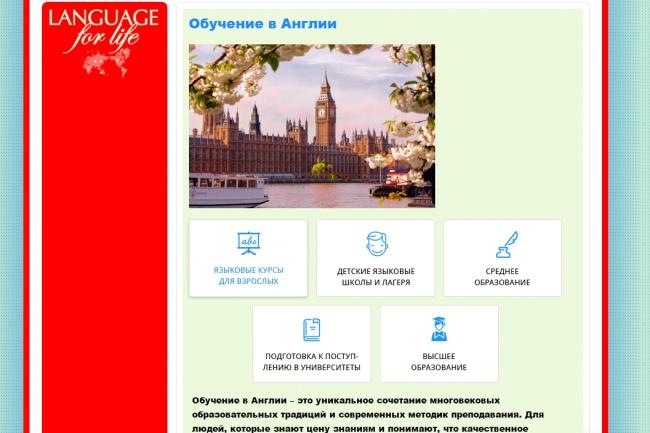Уникальный дизайн главной страницы сайта 26 - kwork.ru