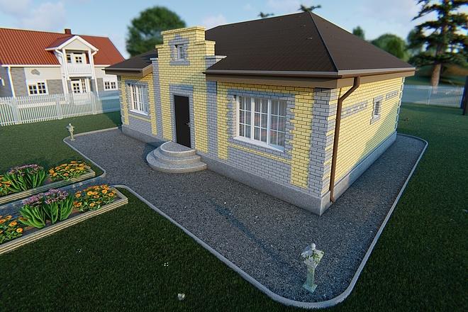Фотореалистичная 3D визуализация экстерьера Вашего дома 86 - kwork.ru