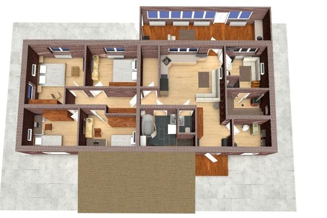 Создам планировку дома, квартиры с мебелью 9 - kwork.ru