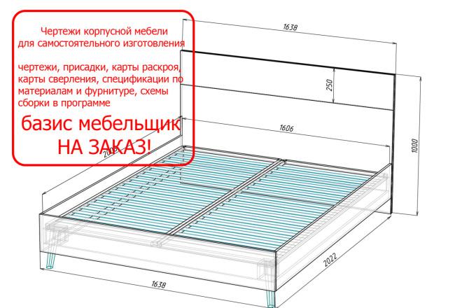 Чертежи мебели для производства в программе базис мебельщик 40 - kwork.ru