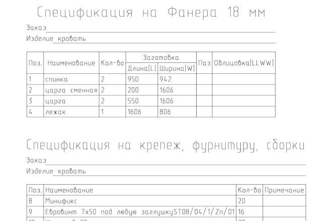 Чертежи мебели для производства в программе базис мебельщик 29 - kwork.ru