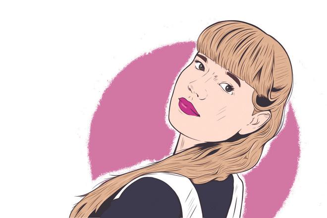 Портрет в стиле комикс поп-арт по фотографии 3 - kwork.ru