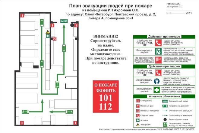 Разработка плана эвакуации по ГОСТу 25 - kwork.ru