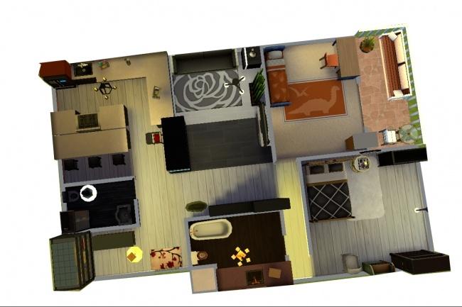 Создание 3d домов 13 - kwork.ru
