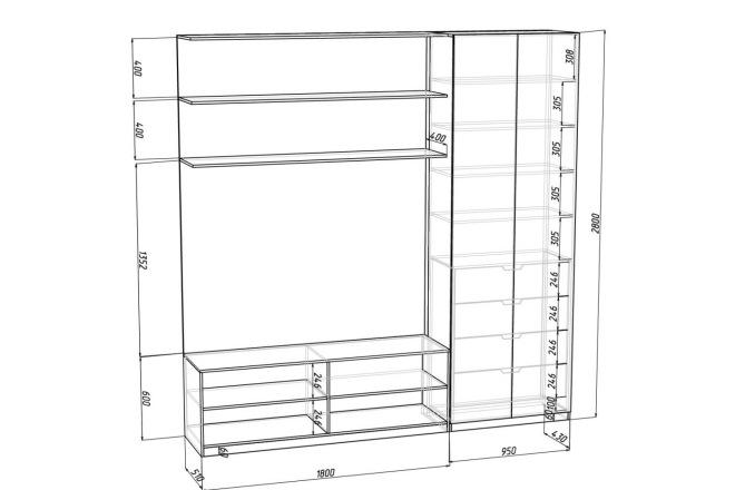 Чертежи мебели для производства в программе базис мебельщик 50 - kwork.ru