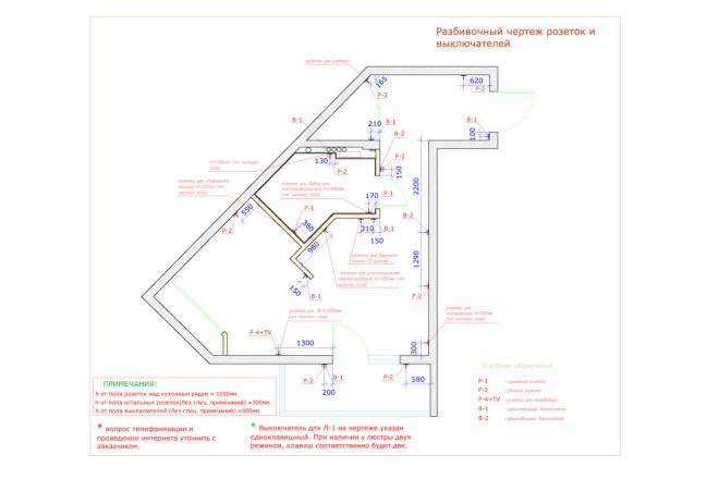 Планировка и перепланировка квартиры, дома и других помещений 20 - kwork.ru