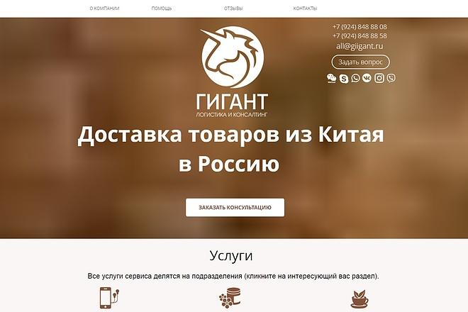 Копия сайта, landing page + админка и настройка форм на почту 43 - kwork.ru
