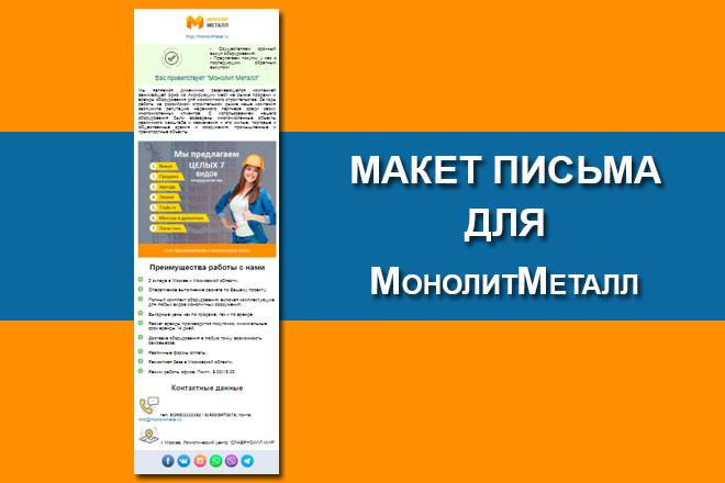 Создам html письмо для e-mail рассылки 21 - kwork.ru
