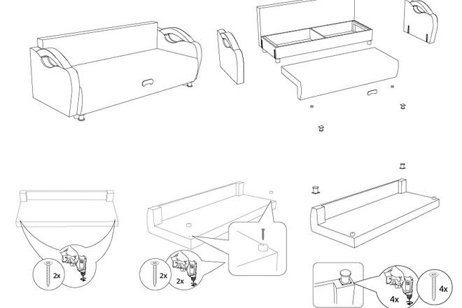 Схема, инструкция сборки мебели 9 - kwork.ru