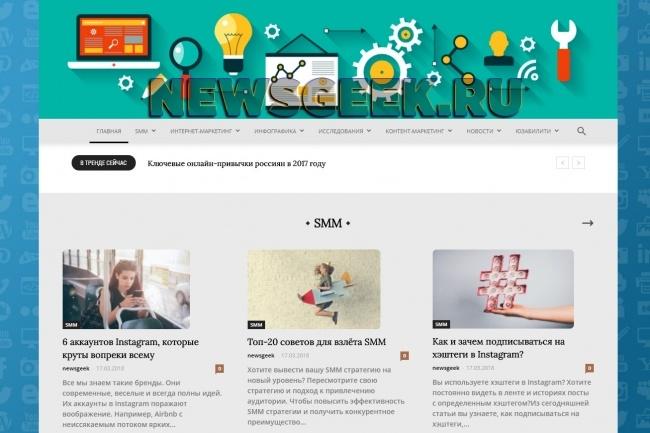 Создам автонаполняемый сайт на WordPress, Pro-шаблон в подарок 13 - kwork.ru