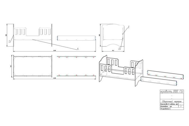 Чертежи мебели для производства в программе базис мебельщик 28 - kwork.ru