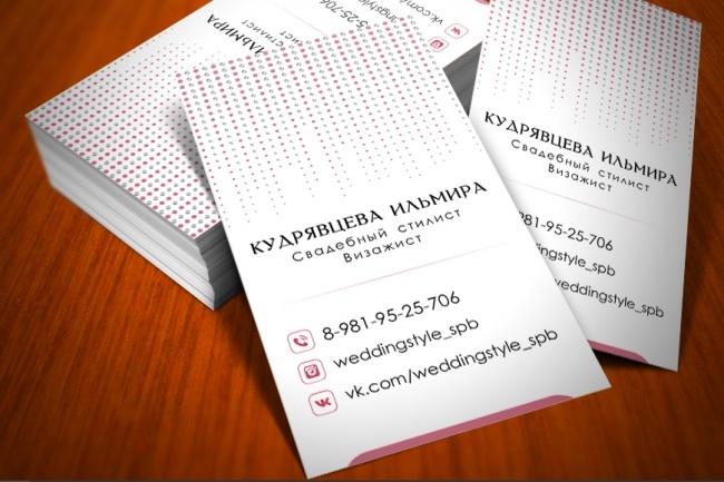 Разработаю красивый, уникальный дизайн визитки в современном стиле 77 - kwork.ru