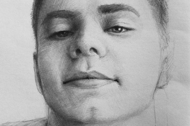 Нарисую портрет карандашом 2 - kwork.ru