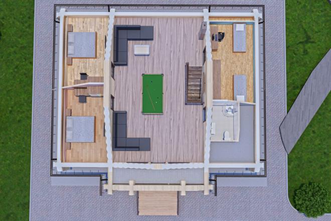 Фотореалистичная 3D визуализация экстерьера Вашего дома 7 - kwork.ru
