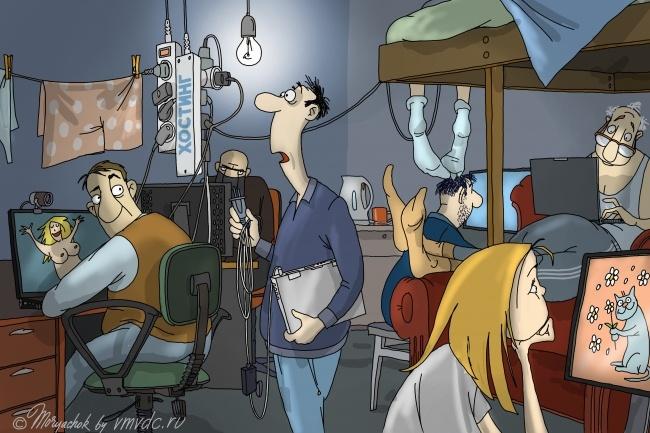 Создам иллюстрацию на медицинскую тематику в стиле карикатуры 8 - kwork.ru