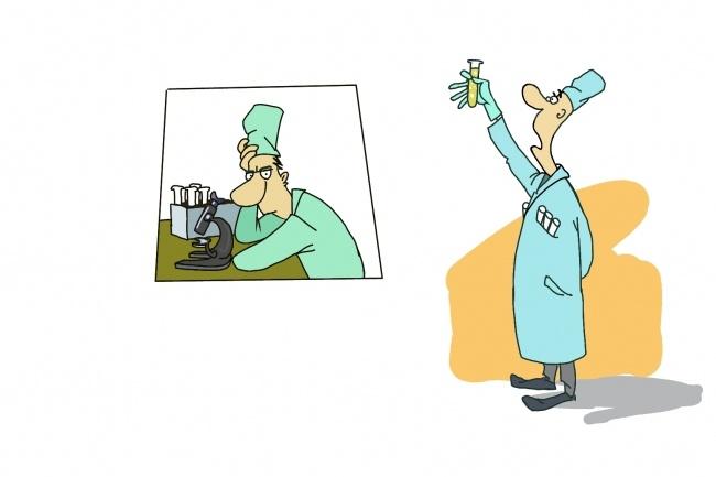 Создам иллюстрацию на медицинскую тематику в стиле карикатуры 5 - kwork.ru