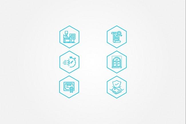 Создам 4 иконки в любом стиле, для лендинга, сайта или приложения 58 - kwork.ru