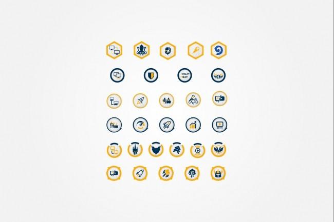 Создам 4 иконки в любом стиле, для лендинга, сайта или приложения 50 - kwork.ru