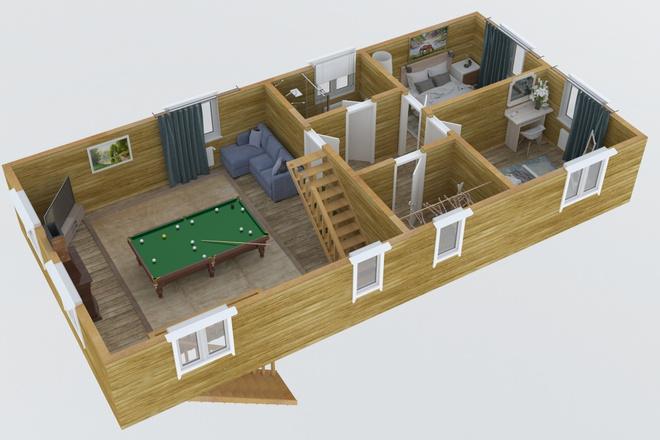 3d визуализация плана помещения 5 - kwork.ru