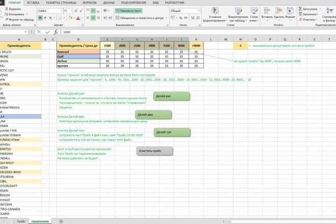 Excel формулы, сводные таблицы, макросы 30 - kwork.ru