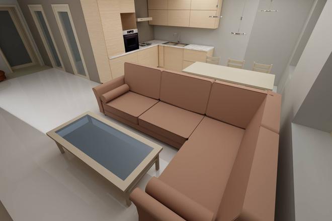 Чертеж планировки Вашего дома, квартиры 4 - kwork.ru