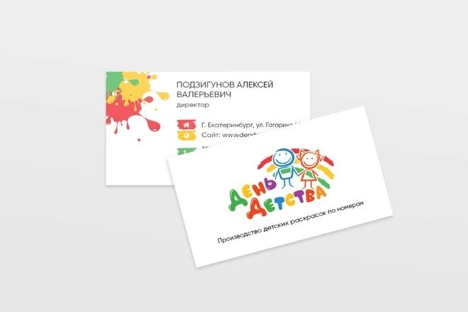 Дизайн, верстка, макет визитки 21 - kwork.ru